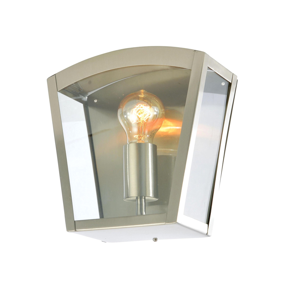Forum Outdoor Artemis Curved Box Wall Lantern Stainless steel
