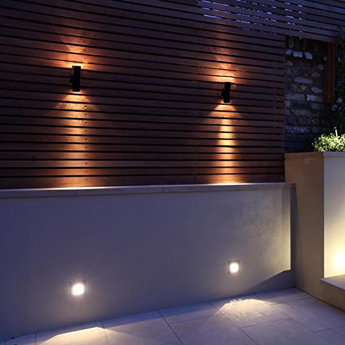 Leto Up/Down Outdoor Wall Light Black PIR