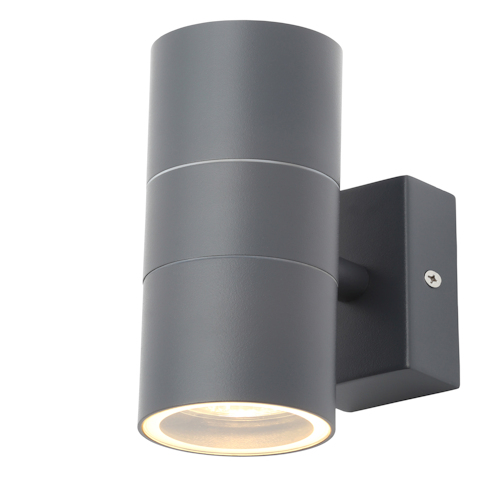 Forum Outdoor Leto 2 Light Up/Down Wall Light in 3 Additional Colours