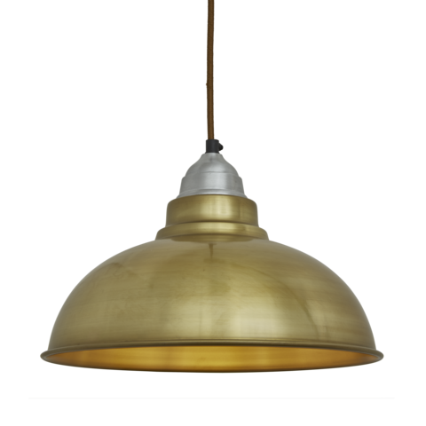 Industville Old Factory Vintage Pendant Light Brass 12 inch