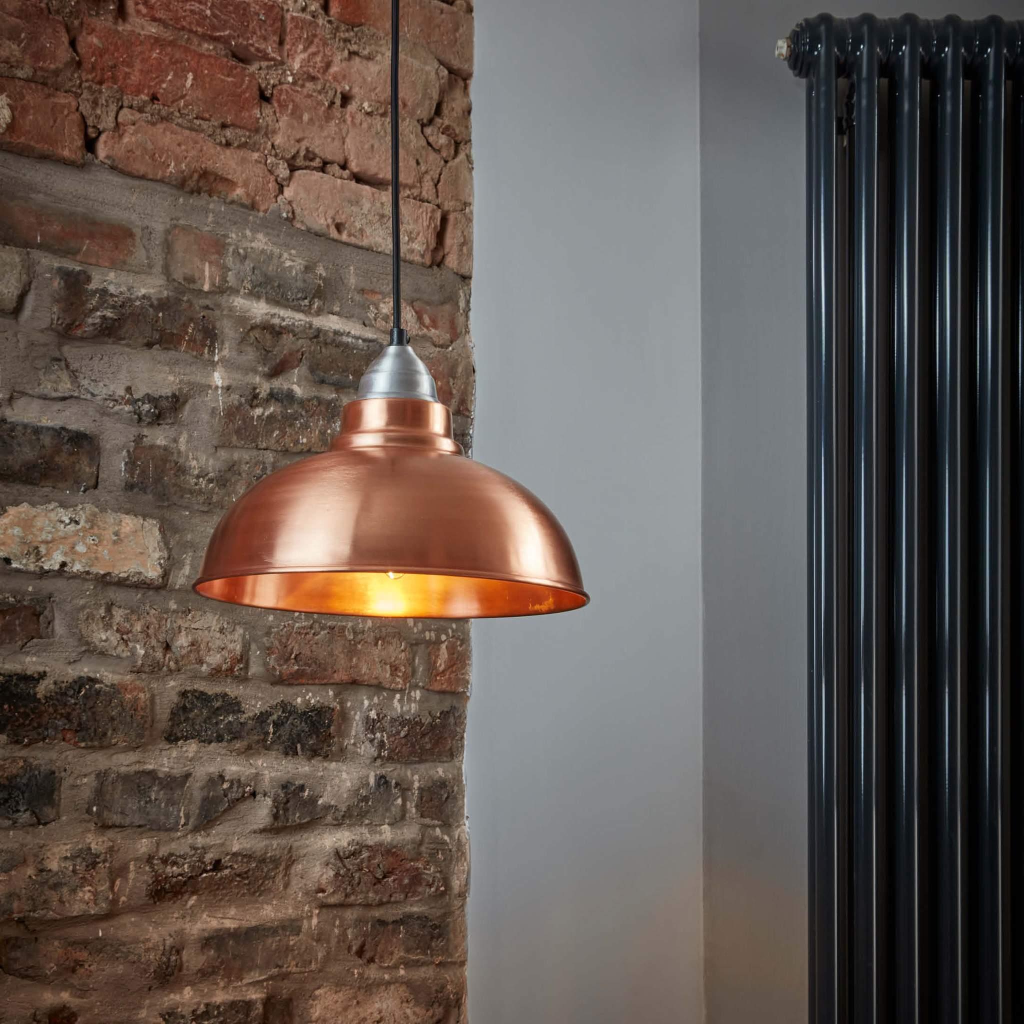 Industville Old Factory Vintage Pendant Light Copper 12 inch