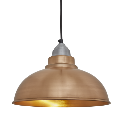 Industville Old Factory Vintage Pendant Light Copper 12 inch