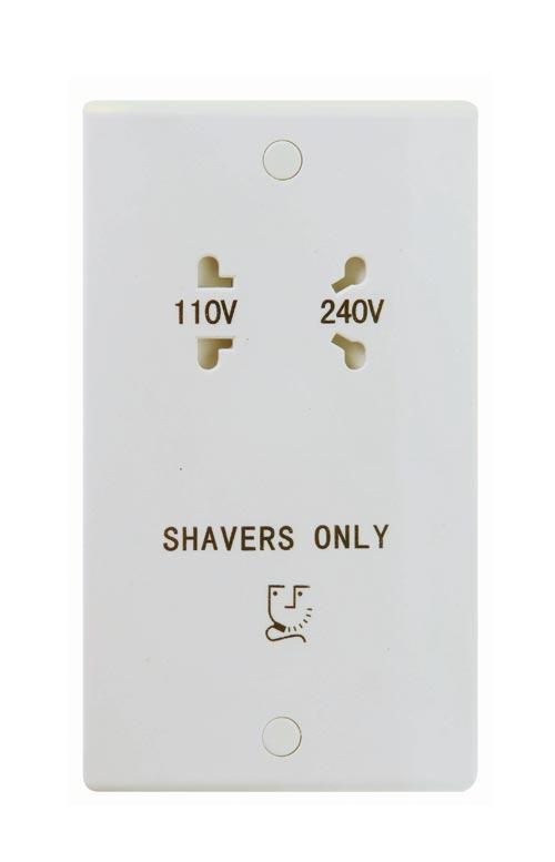 115 to 230v Dual Voltage Shaver Socket