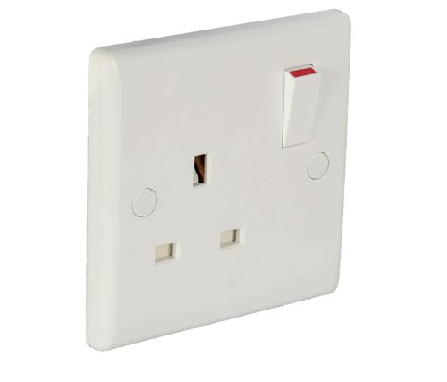 1 Gang 13a Switched Socket Double Pole