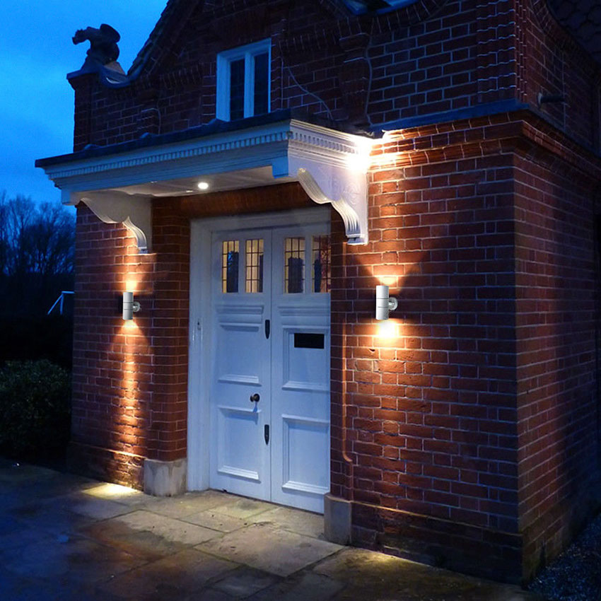 Forum Outdoor Leto 2 Light Up/Down Wall Light in 3 Colours