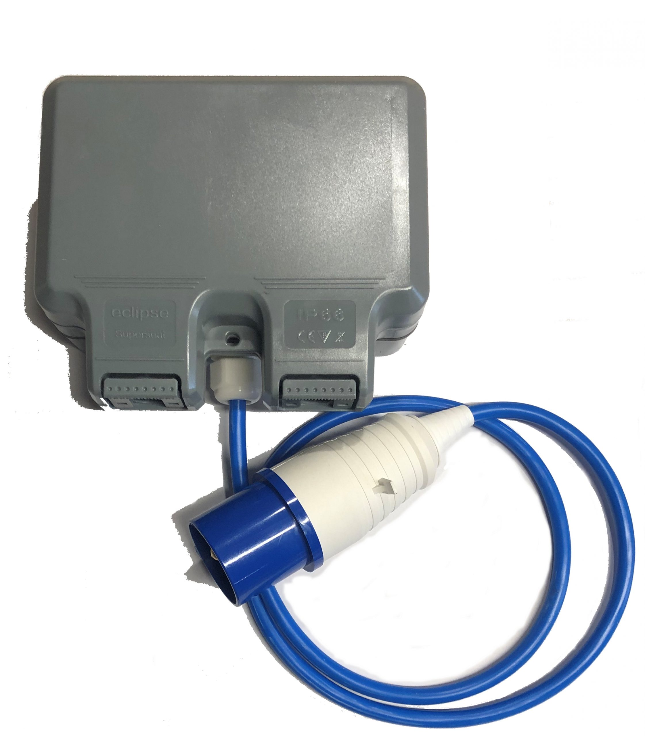 Camping/Caravan outdoor garden extension lead socket box IP65 Rated with 16amp Plug